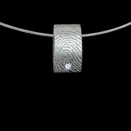 hanger zilver met zirkonia