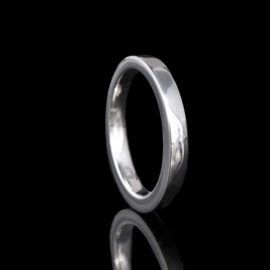 zilveren ring met gesloten askamer