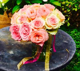 bloemen afscheids rozen