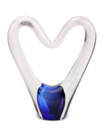 open heart glas urn