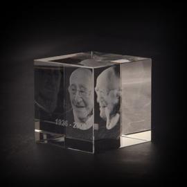 foto in glas kubus