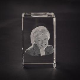 foto in glas waxine