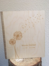 gepersonaliseerd condoleanceboek blank