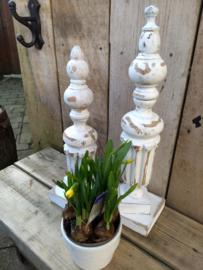 Set decoratieve Brocante paaltjes
