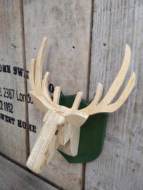 3d houten hertenkop klein