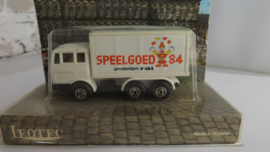 Leotec HO 1:87 Mercedes Vrachtwagen opdruk Speelgoed Amsterdam 1984 Promo uitgave incl ovp