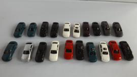 Mix 15 auto modellen voor N spoor
