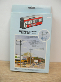 Walthers Cornerstone HO Electric Utility Pole Set Electriciteits palen ovp