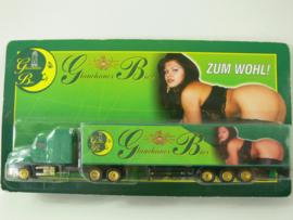 18 + )  Erotik Truck -  erotische vrachtwagen:  Glauchauer Bier ovp