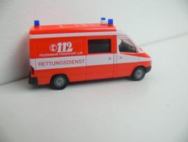 Herpa Mercedes benz Rettungdienst Feuerwehr Frankfurt a Main ovp