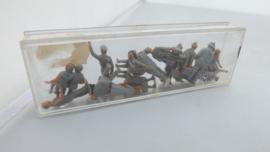 Preiser setje figuren zelf schilderen diverse houdingen
