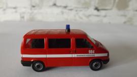Herpa VW Caravelle Transporter Brandweer Hoogovens Nederland 984