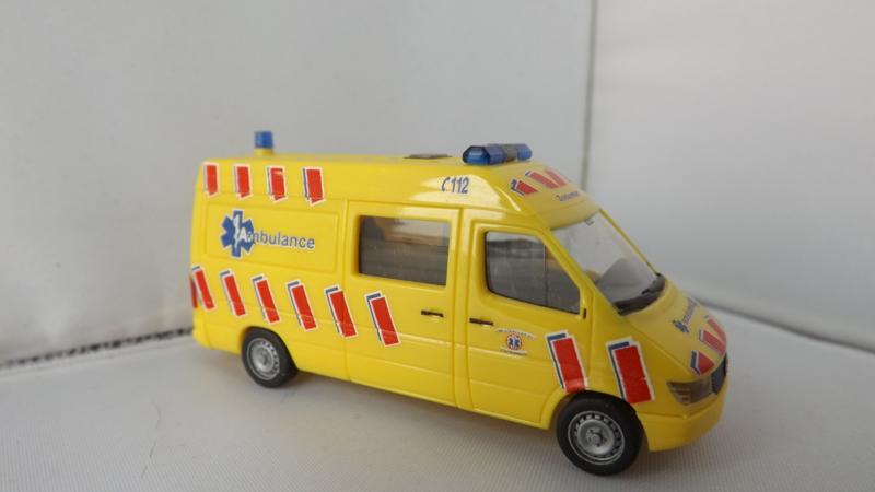 Herpa Mercedes Benz Sprinter Ambulance dienst Zoetermeer Nederland
