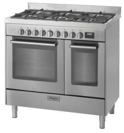 Pelgrim NF970RVSA Fornuis met multifunctionele oven 90 cm breed