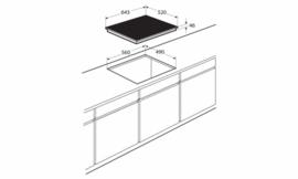 Pelgrim IDK862ONY Inductiekookplaat met flexzones en slidebediening, 64 cm breed