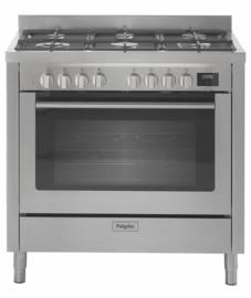 Pelgrim NF960RVSA Fornuis met multifunctionele oven 90 cm breed