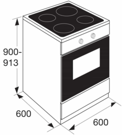 Pelgrim PFI8160WIT Multifunctioneel inductie-elektrisch fornuis 60 cm breed
