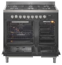 Pelgrim NF970MATA Fornuis met multifunctionele oven 90 cm breed
