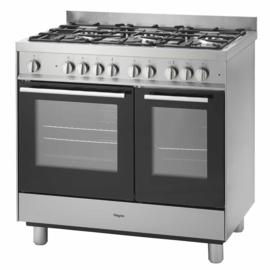 Pelgrim NF942RVSA Fornuis met multifunctionele oven 90 cm breed