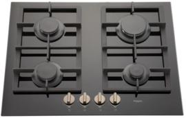 Pelgrim GK564ONYA Gas-op-glas kookplaat, 65 cm breed