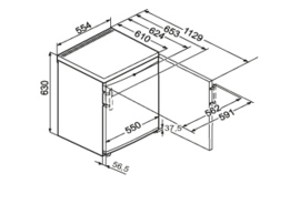 Liebherr TX 1021 Comfort Barmodel 55 cm met vriesvak