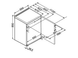 Liebherr TP 1434 Comfort Tafelmodel 55 cm met vriesvak
