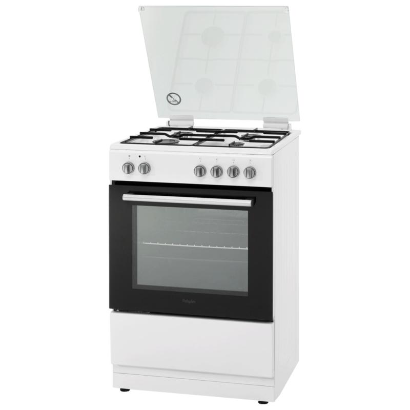 Pelgrim PF7150WIT Gasfornuis met conventionele oven 60 cm breed
