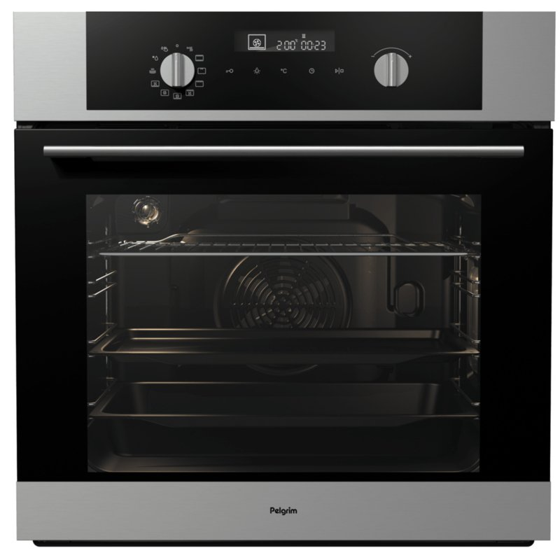 Pelgrim OVM526RVS Multifunctionele Inbouw Oven, Nis 60 cm