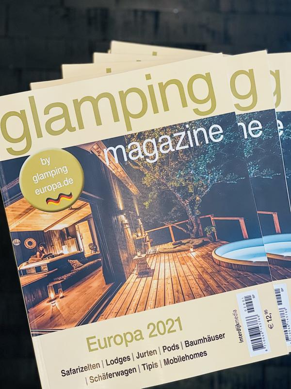 Internationale Glamping Guide Europa  2021  22.95 € (einschließlich internationalem Porto / Versand)