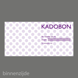 Kadobon stip paars