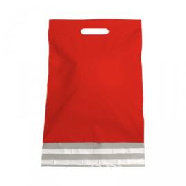 Plastic Verzendtas rood