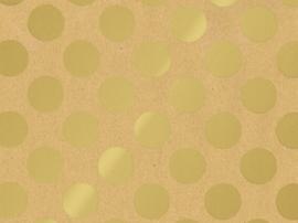 Stip Kraft Inpakpapier goud-kraft