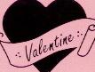 Valentijn stickers roze-fuchsia