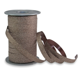 Poly Glitter bruin