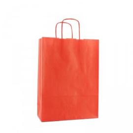 Budget Papieren draagtas rood
