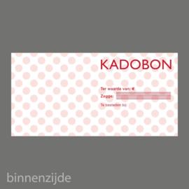Kadobon stip rood