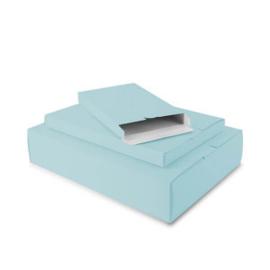 Papieren Verzenddoos aqua