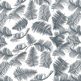 Nature eco leaves grey/blue