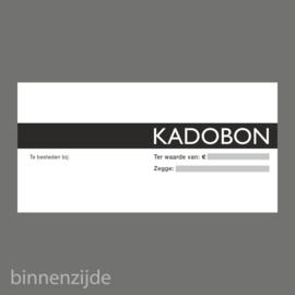 Kadobon zwart