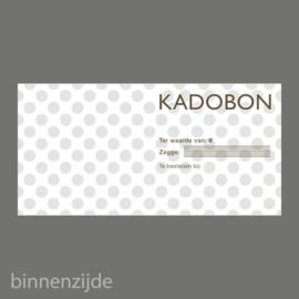 Kadobon stip taupe