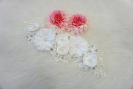 White 3d flower