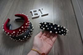 Pearl headband Black