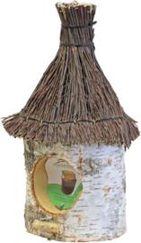 Pindakaaspot houder  tenen dak