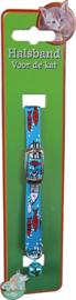 Halsband cartoon blauw met visjes