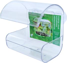 Window feeder plastic met 2 zuigers