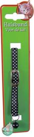Halsband zwart met stipjes