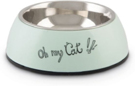 Beeztees Eetbak Oh my Cat mint 14 cm