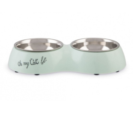 Beeztees Dinerset Oh my Cat mint 27 cm