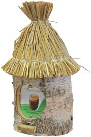 Pindakaaspot houder stro dak