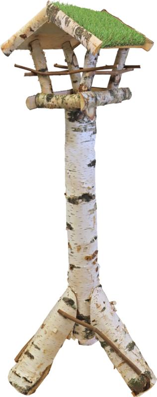 Voederhuis berken met gazon (kunstgras) dak 49,95